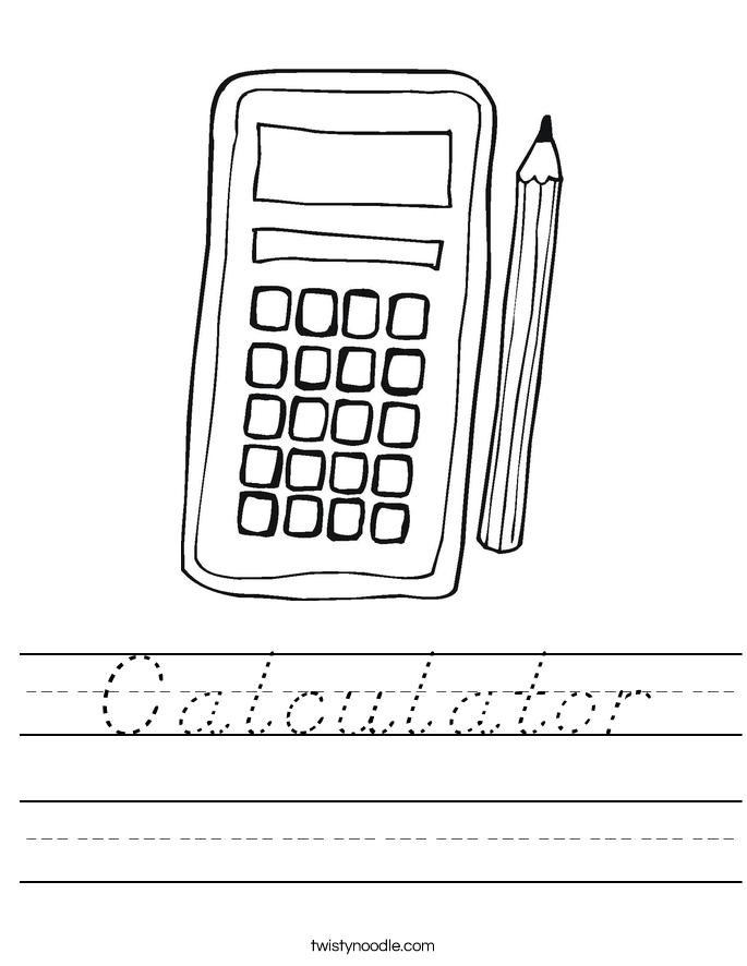 Calculator Worksheet