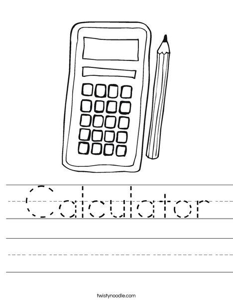 calculator worksheet twisty noodle. Black Bedroom Furniture Sets. Home Design Ideas