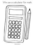 We use a calculator for math.Coloring Page