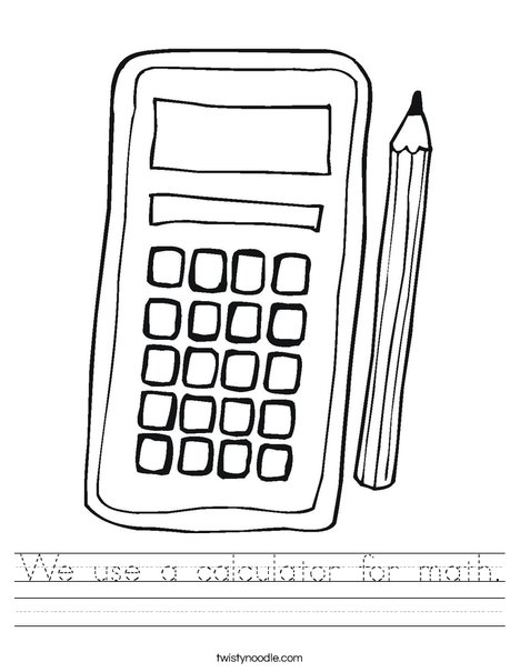 math worksheet : we use a calculator for math worksheet  twisty noodle : Calculator Maths Worksheets