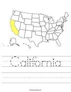 California Handwriting Sheet