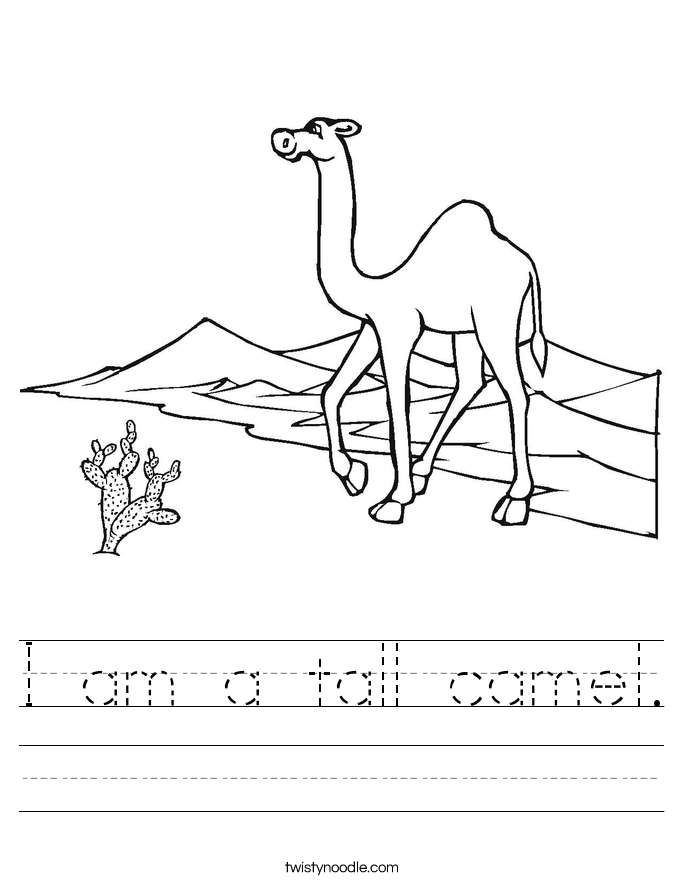 I am a tall camel. Worksheet