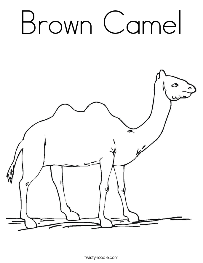 Brown Camel Coloring Page