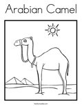 Arabian Camel Coloring Page