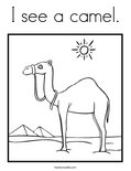 I see a camel. Coloring Page