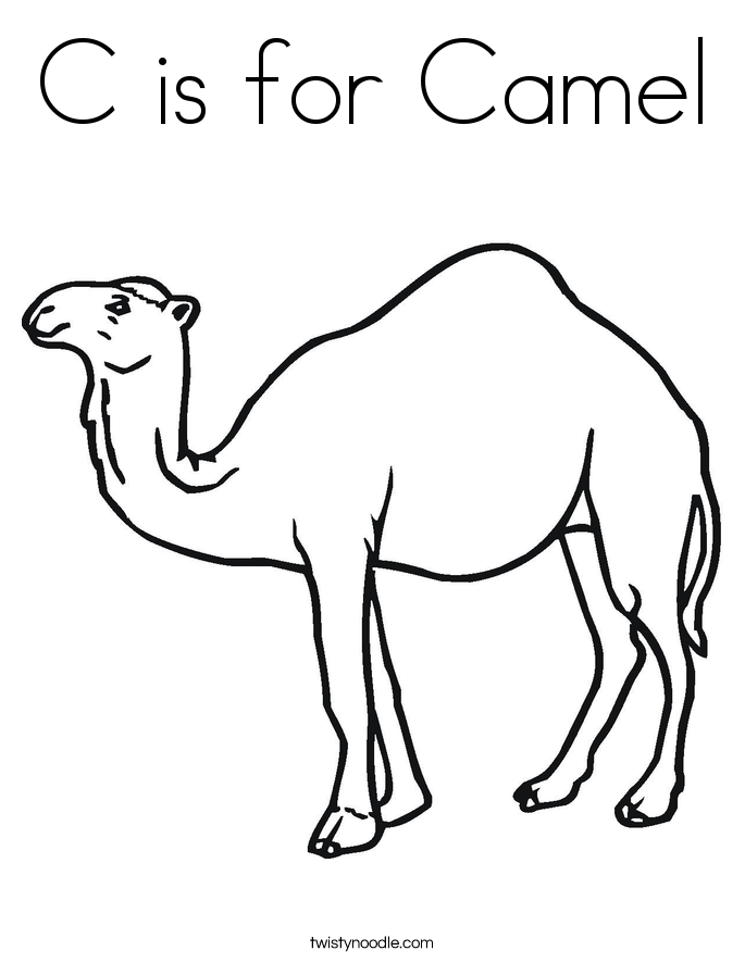 C Is For Camel Coloring Page Twisty Noodle Camel Coloring Pages