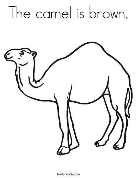 The camel is brown Coloring Page - Twisty Noodle