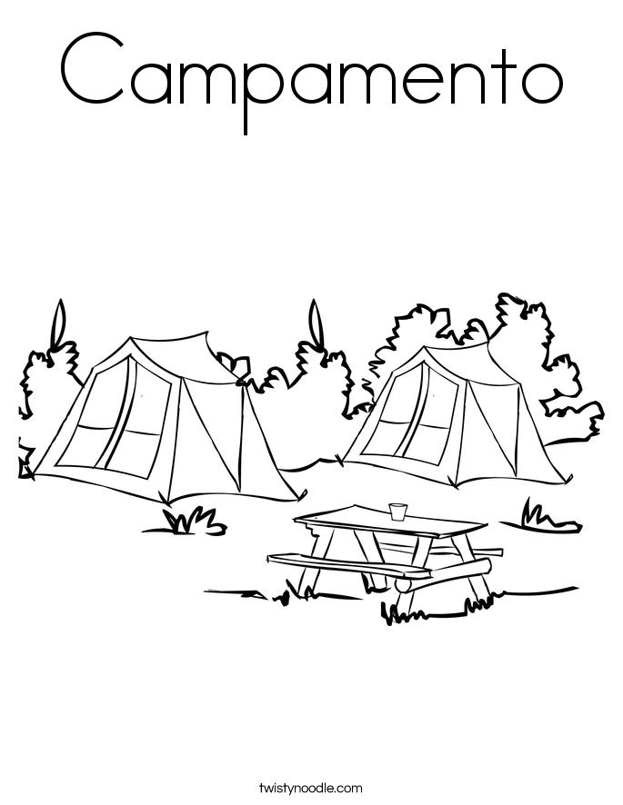 Campamento Coloring Page
