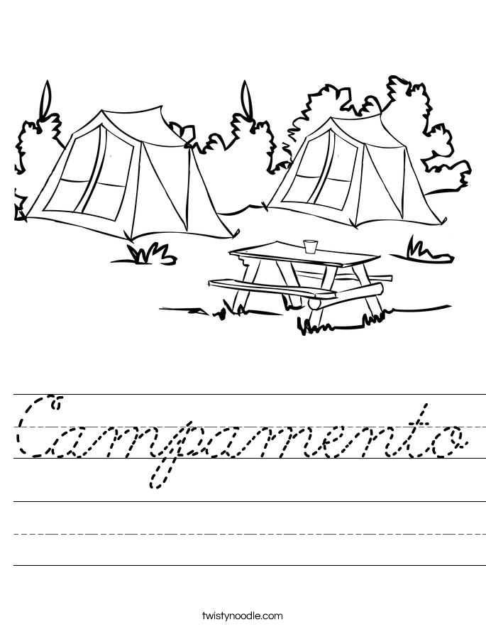 Campamento Worksheet