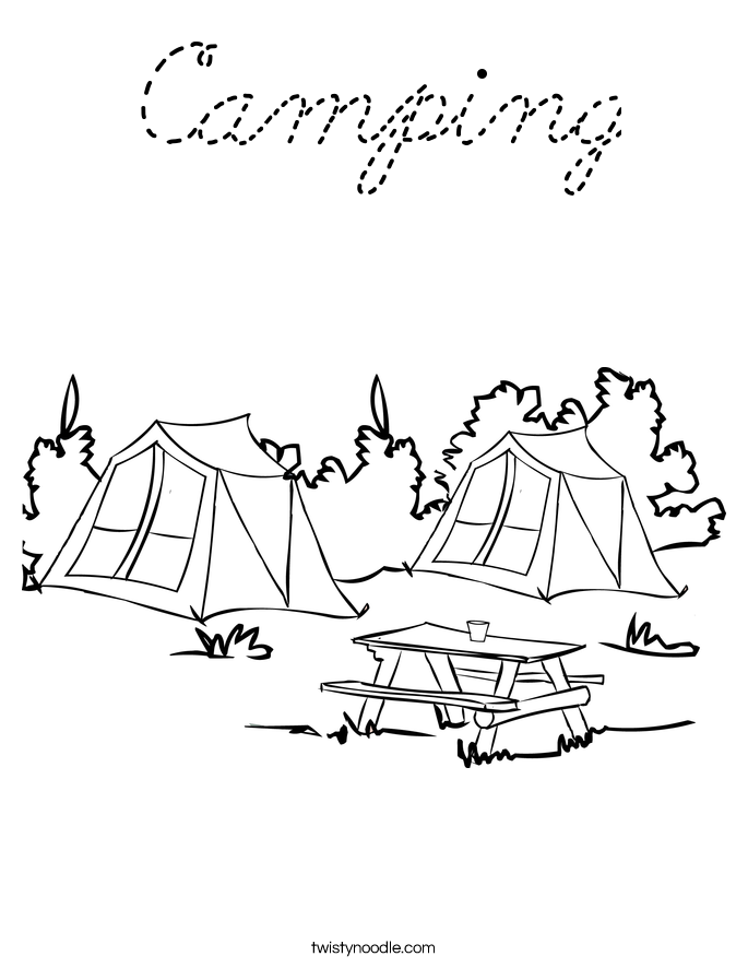 coloring pages hiking - photo#23