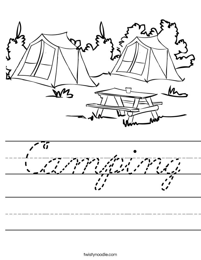 Camping Worksheet