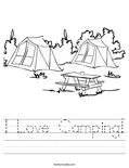 I Love Camping! Worksheet