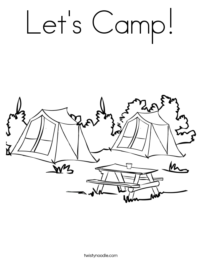 Let's Camp! Coloring Page