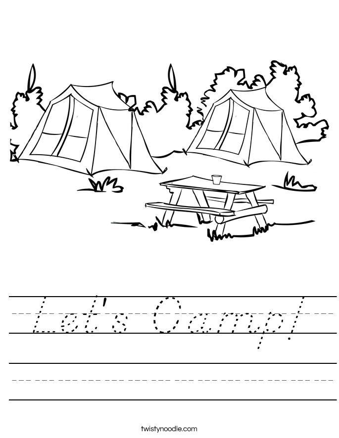 Let's Camp! Worksheet