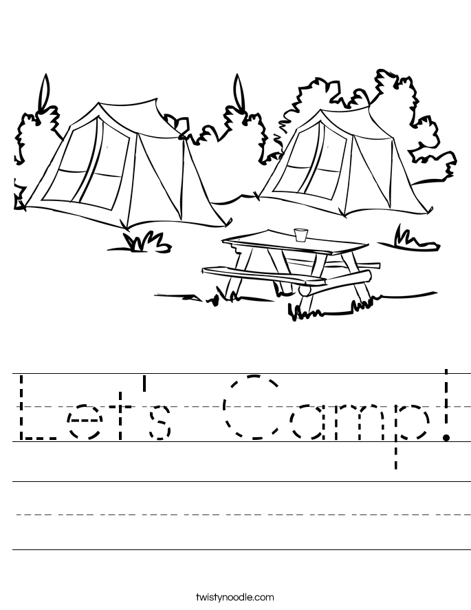 Let's Camp! Worksheet