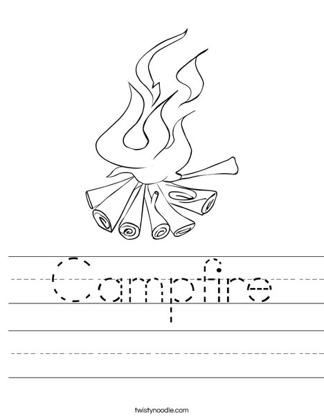 Campfire Worksheet Twisty Noodle