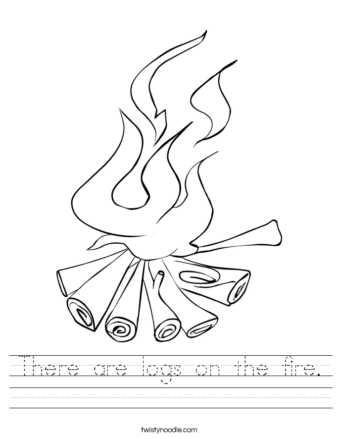 There are logs on the fire. Worksheet