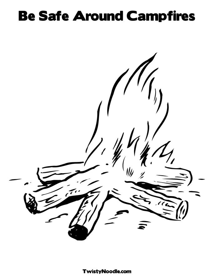 campfire coloring page...