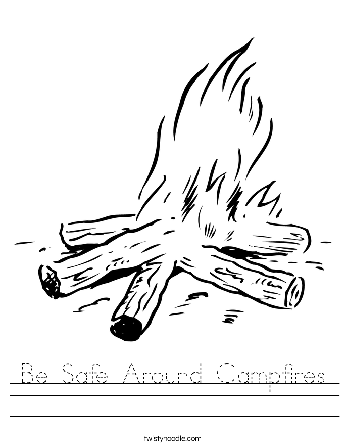 Be Safe Around Campfires Worksheet