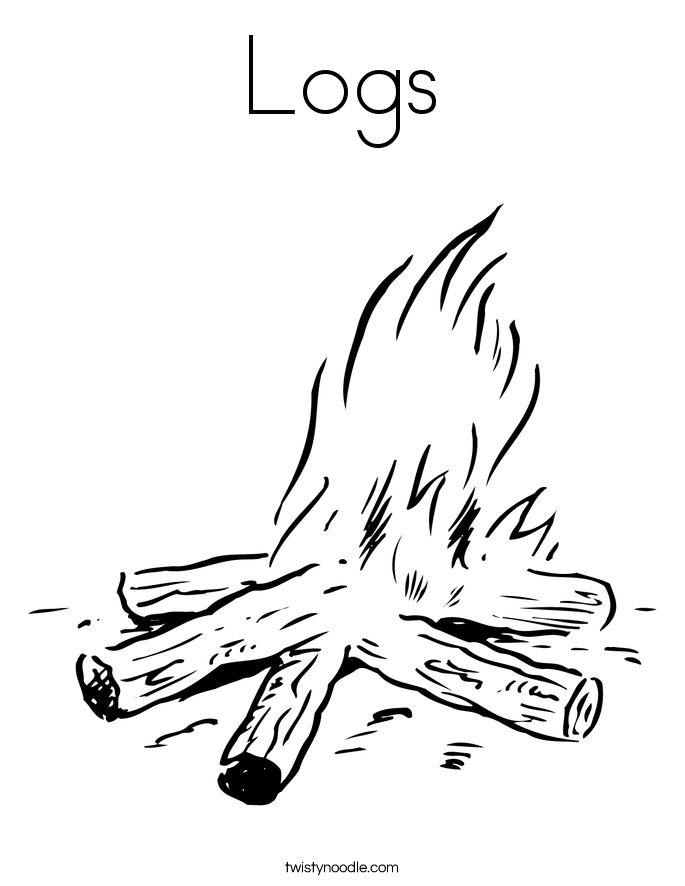 Logs Coloring Page