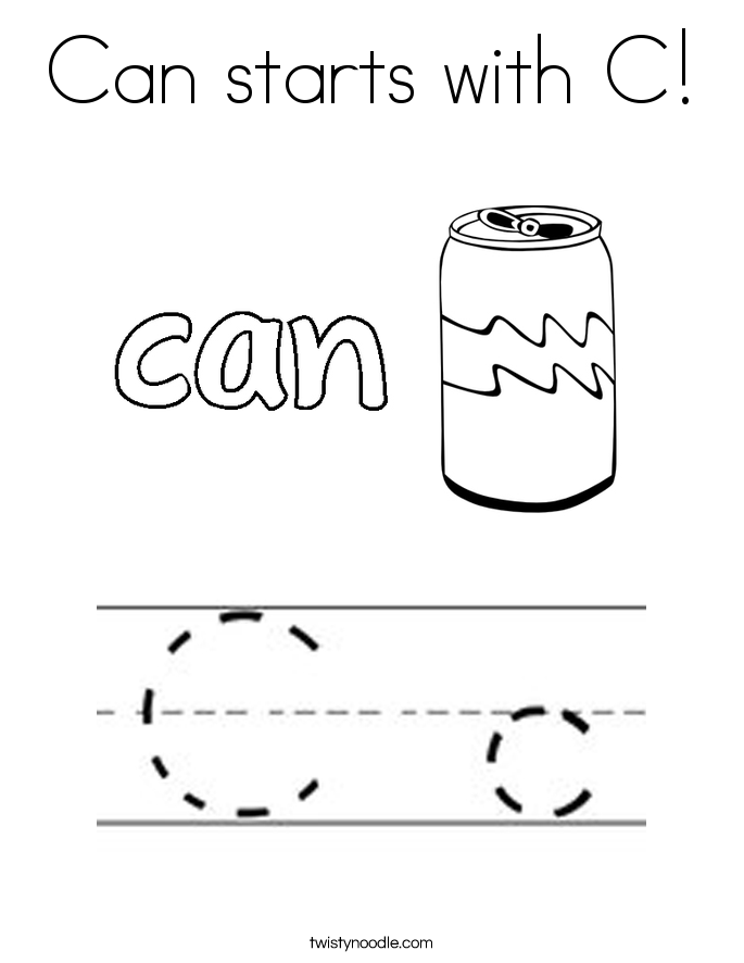 Can starts with C! Coloring Page