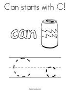 Can starts with C Coloring Page