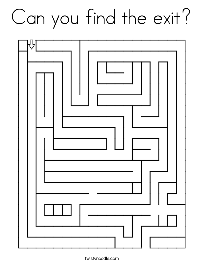 Can you find the exit? Coloring Page