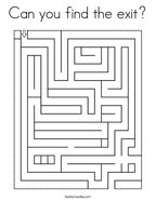 Can you find the exit Coloring Page