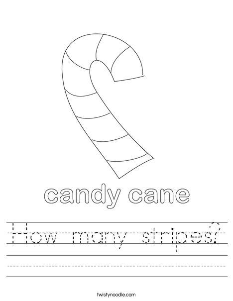 Candy Cane Worksheet