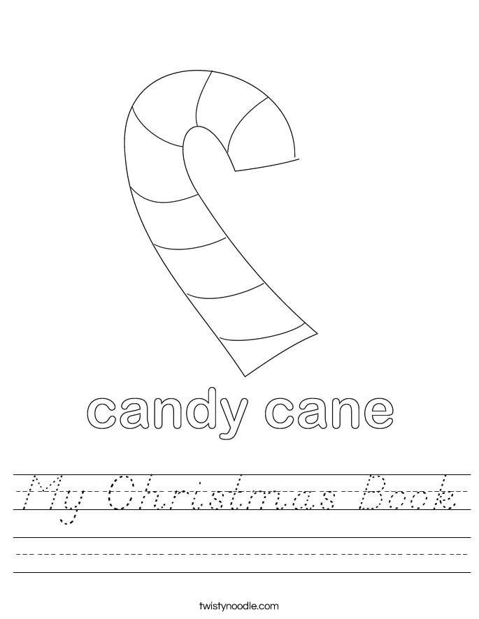 My Christmas Book Worksheet