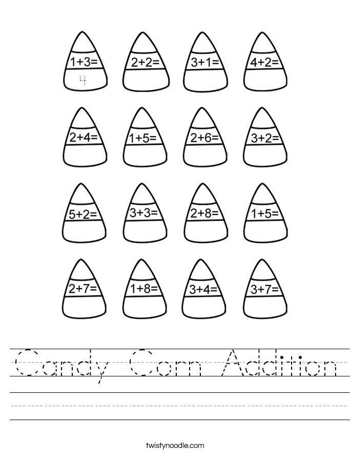 Candy Corn Addition Worksheet