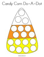 Candy Corn Do-A-Dot Coloring Page