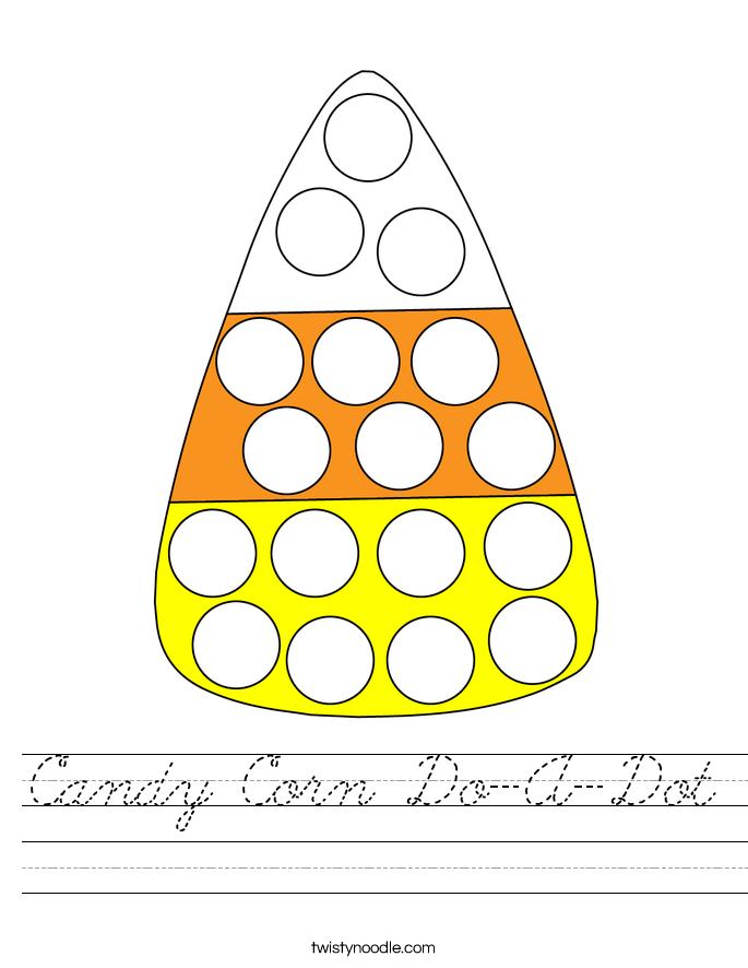 Candy Corn Do-A-Dot Worksheet