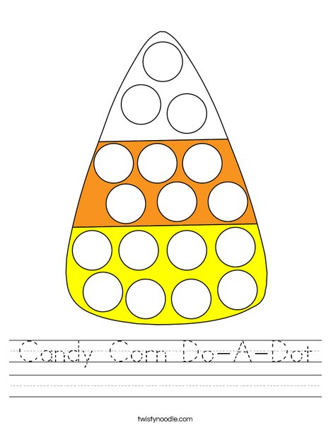 Candy Corn Do-A-Dot Worksheet
