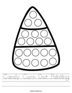 Candy Corn Dot Painting Handwriting Sheet