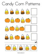 Candy Corn Patterns Coloring Page