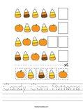 Candy Corn Patterns Worksheet