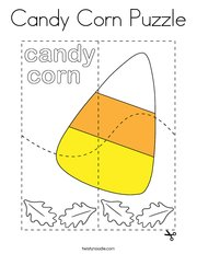 Candy Corn Puzzle Coloring Page