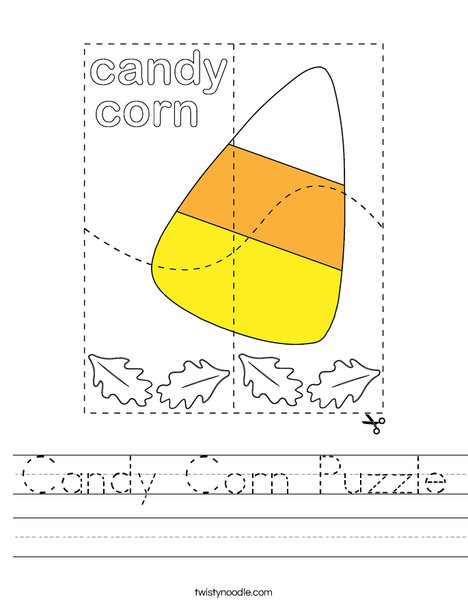 Candy Corn Puzzle Worksheet