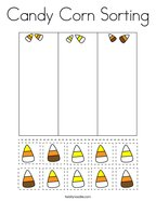 Candy Corn Sorting Coloring Page