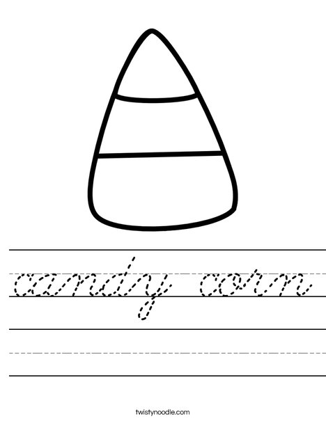 Candy Corn Worksheet