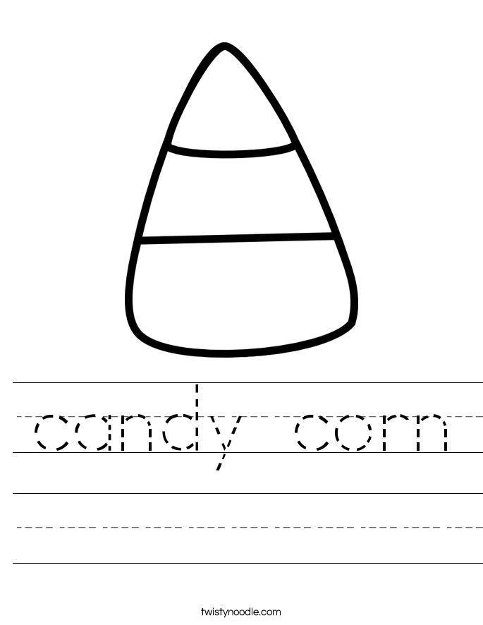 Candy Worksheet Twisty Noodle