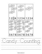Candy Counting Handwriting Sheet