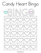 Candy Heart Bingo Coloring Page