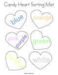 Candy Heart Sorting Mat Coloring Page