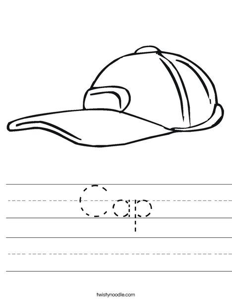 Baseball Cap Worksheet
