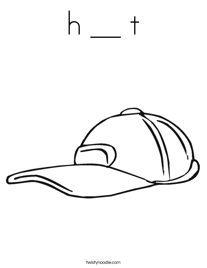 h __ t Coloring Page