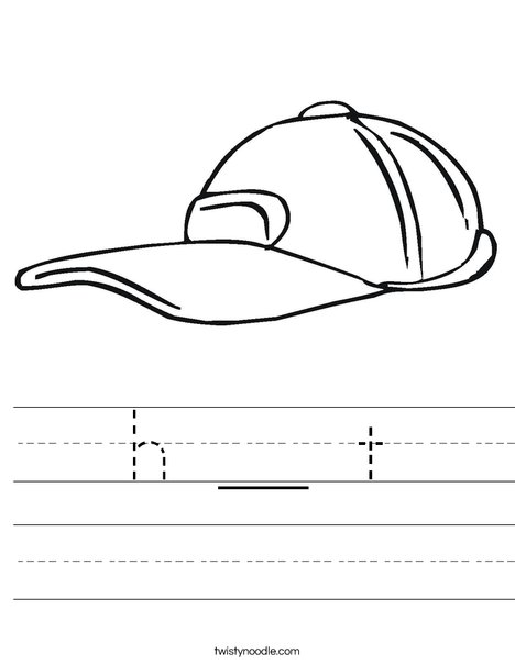 Baseball Cap Worksheet