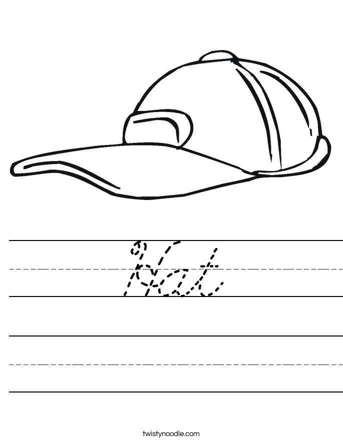 Hat Worksheet