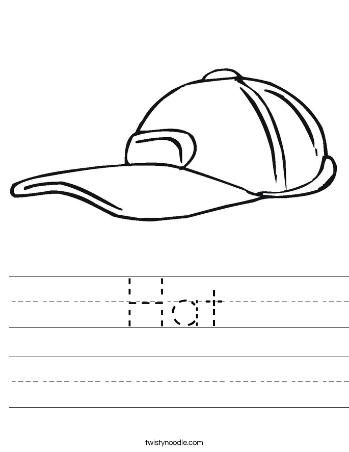 Hat Worksheet